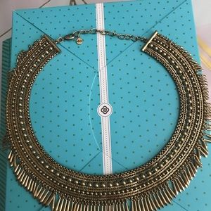 Stella & Dot Tansy Necklace Gold BRAND NEW IN BOX